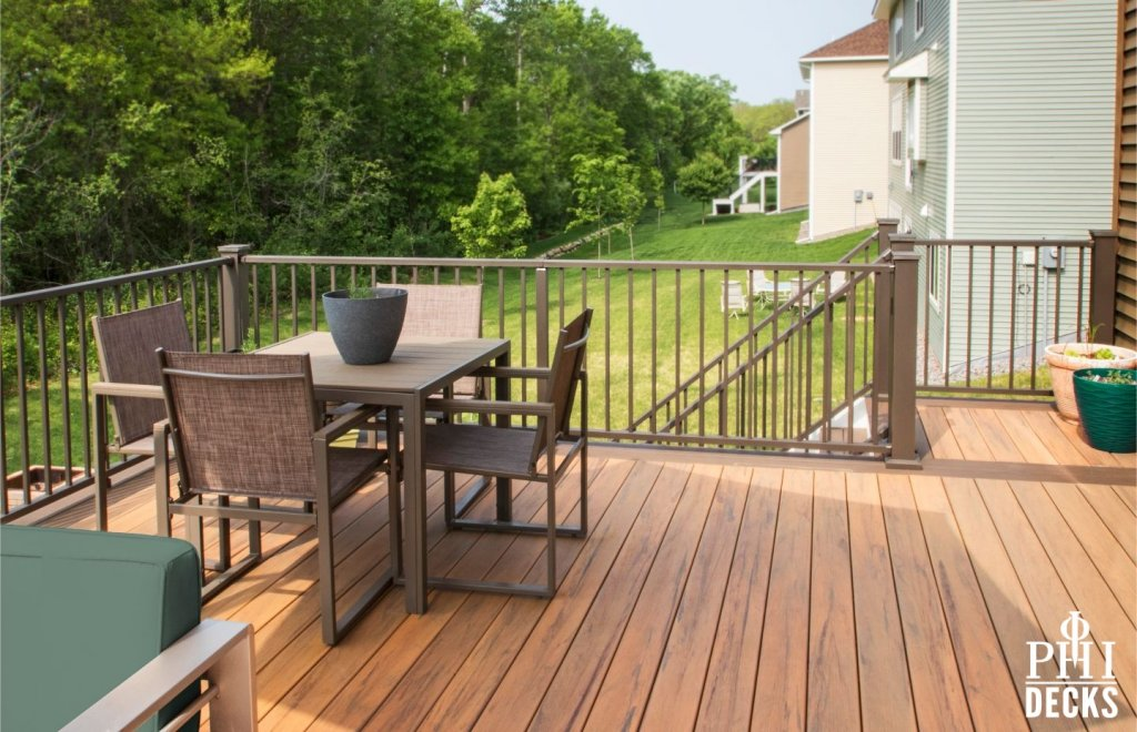 timbertech decking aluminum railings