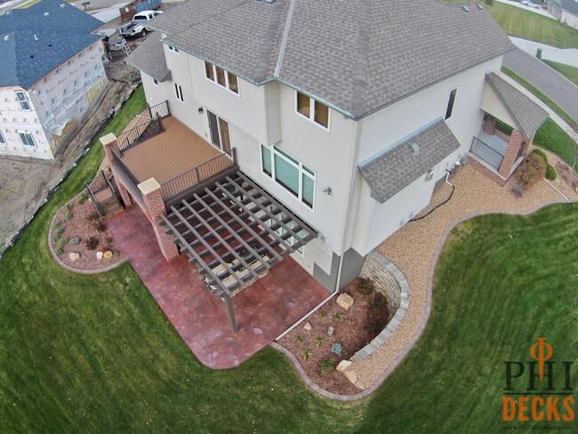 Custom_pergola-concrete-patio-stamped-concrete-low-maintenance-deck