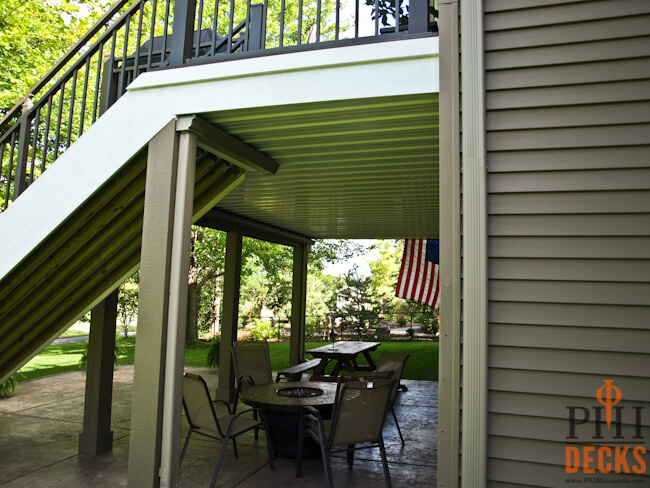 dry-space-below-deck-wrapped-posts-prior-lake-mn