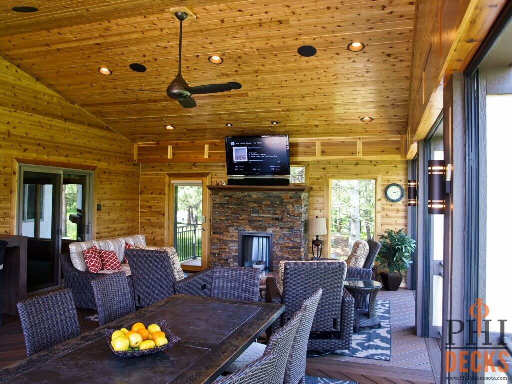 outdoor-fireplace-tv-cedar-walls-ceiling